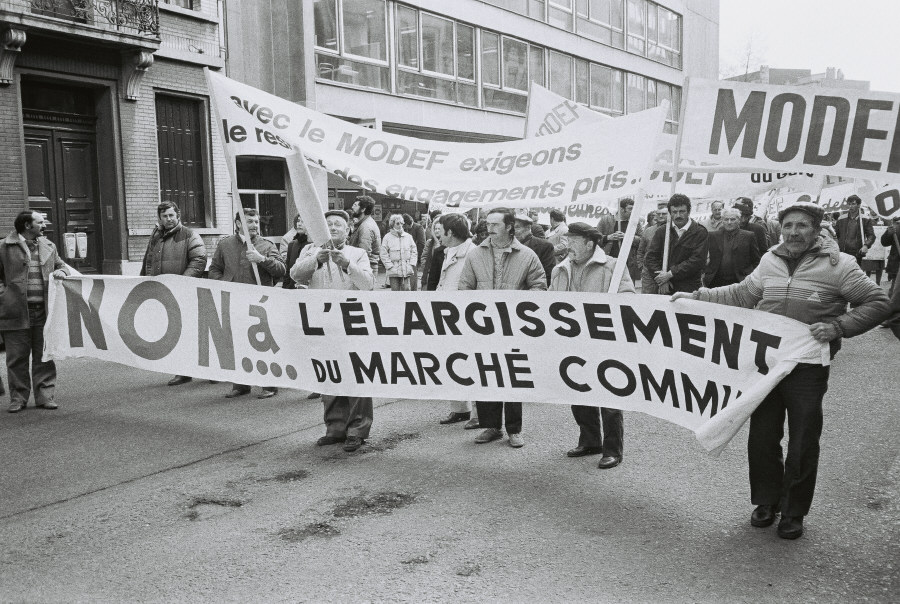 Farmers' demonstration against the Common Market enlargement