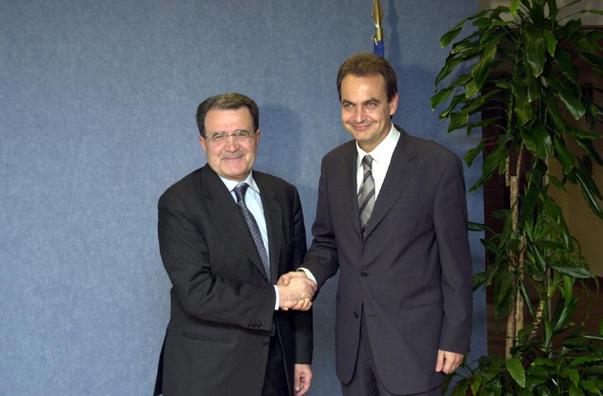 Visite de José Luis Rodríguez Zapatero, secrétaire général du PSOE, à la CE
