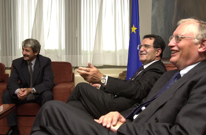 Visite de Mikuláš Dzurinda, Premier ministre slovaque à la CE
