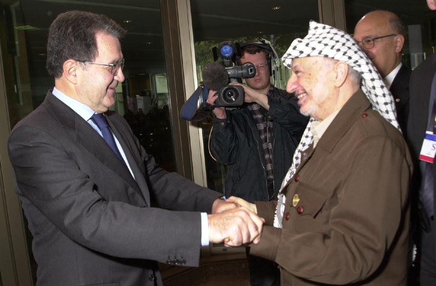 Yasser Arafat visits the EC
