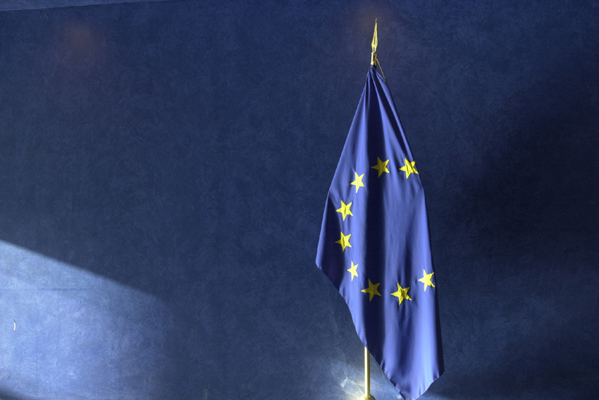 Symbolic photograph of the European flag