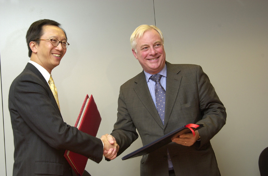 Visit of Anthony Leung, Financial Secretary of the Honk-Kong Special Administrative Region, to the EC