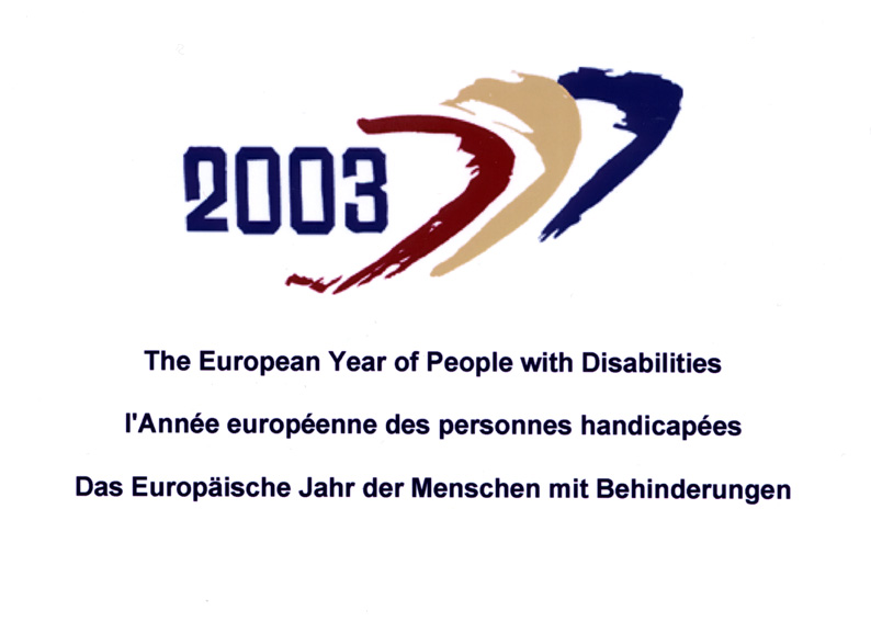 2003: European Year of Persons with Disabilities