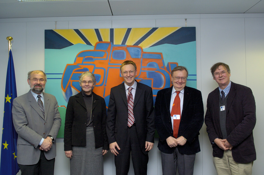 Visit of four European Nobel Prize Laureates, to the EC