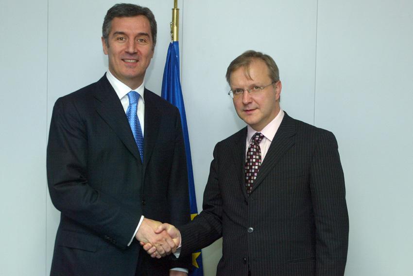 Visite de Milo Ðukanović, Premier ministre monténégrin, à la CE