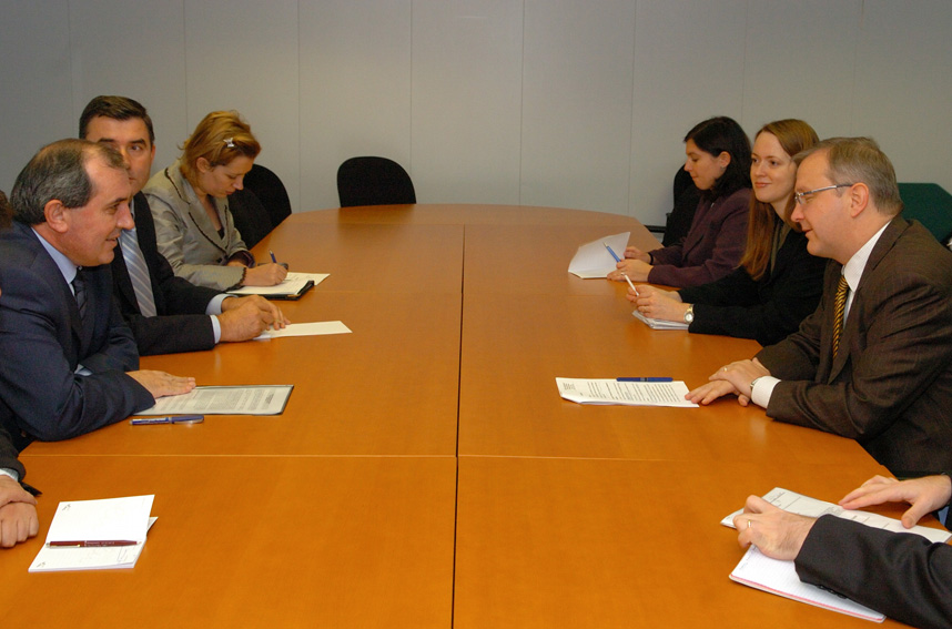 Visit of Besnik Mustafaj, Albanese Minister for Foreign Affairs, to the EC