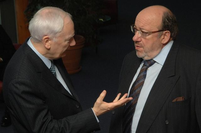 Visite de Philippe Maystadt et de Paul Wolfowitz, respectivement président de la BEI et de la Banque mondiale, à la CE