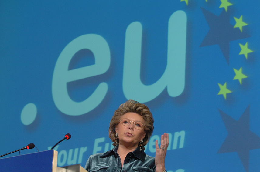 Launch by Viviane Reding, Member of the EC, of the new Internet domain name for Europe: .eu.