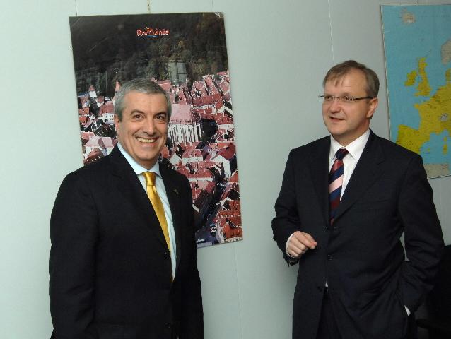 Visite de Călin Popescu-Tăriceanu, Premier ministre roumain, à la CE
