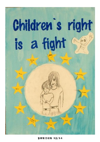 Posters of the competition The European Union and the Rights of the Child