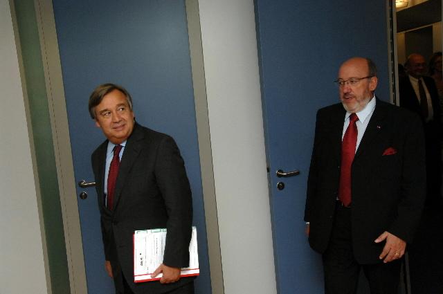 Visite d'António Guterres, Haut commissaire des Nations unies pour les réfugiés, à la CE