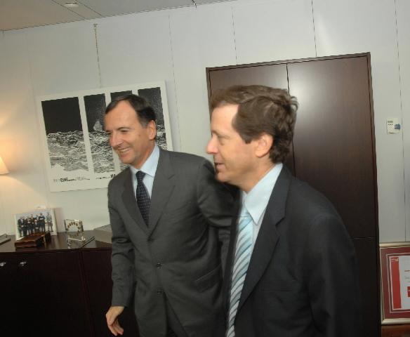 Visite de Isaac Herzog, minitre israélien de la Diaspora, de la Société et pour la lutte contre l'Antisémitisme, à la CE