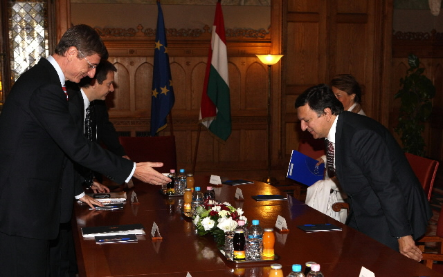 Visit by José Manuel Barroso, President of the EC, to Hungary
