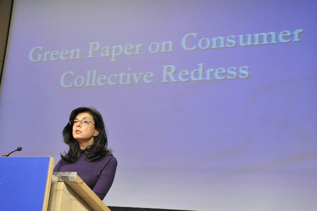 Press conference by Meglena Kuneva, Member of the EC, on collective redress