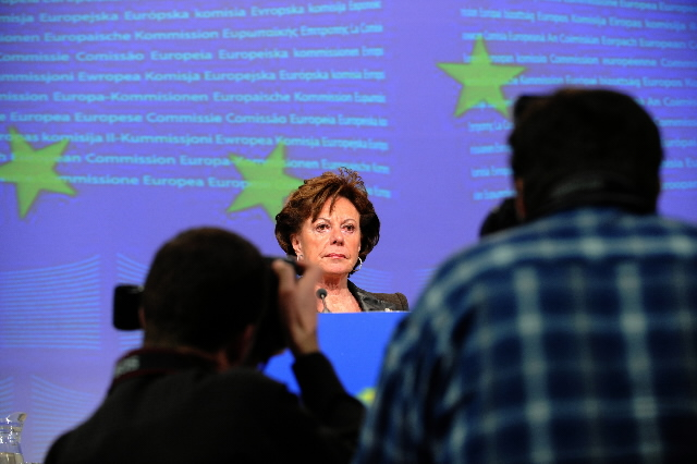 Press conference by Neelie Kroes, Member of the EC, on bank recapitalization