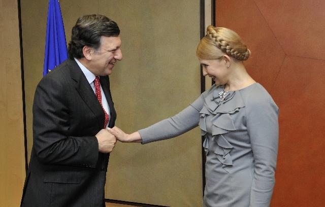 Visite de Ioulia Tymochenko, Première ministre ukrainienne, à la CE