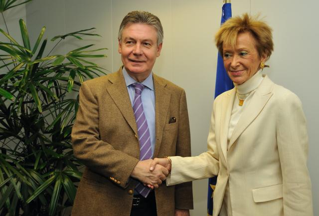 Visit of María Teresa Fernández de la Vega, Spanish First Deputy Prime Minister and Minister for the Presidency, to the EC