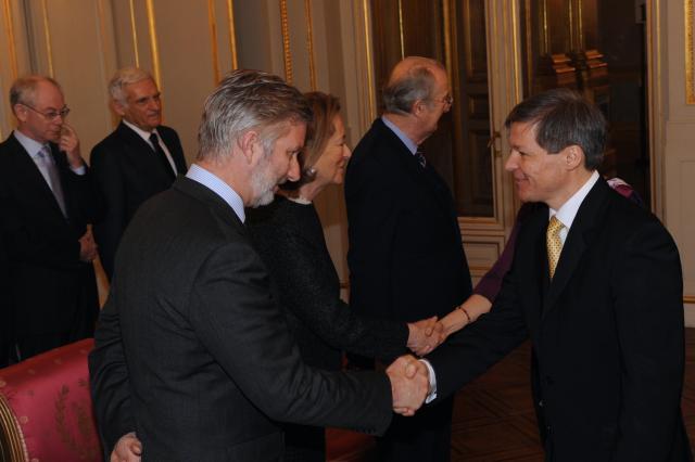 Présentation des voeux de nouvel an de la Commission Barroso II à Albert II, roi des belges