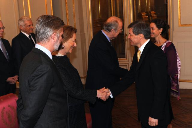 Presentation of New Year's greetings of the Barroso II Commission to Albert II, King of the Belgians