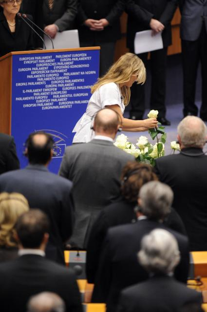 Commemorative ceremony for the victims of the plane crash in Smolensk, at the EP