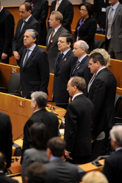 Cérémonie d'hommage aux victimes de l'accident d'avion de Smolensk, au PE