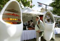 Participation de Dacian Cioloş, membre de la CE, au marché agricole
