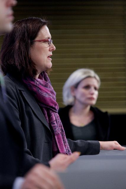 Press conference by Cecilia Malmström, Member of the EC, on the occasion of the launch of the new website dedicated to the fight against trafficking in human beings