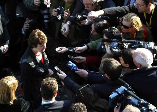 Participation de Catherine Ashton, vice-présidente de la CE, à la réunion informelle des ministres des Affaires étrangères
