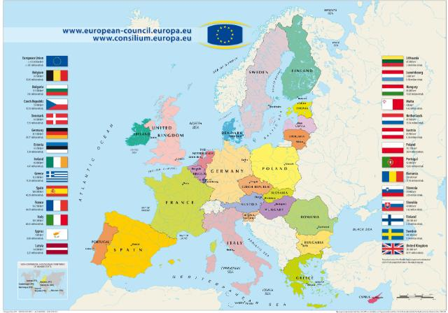 Historical European Union map 2011