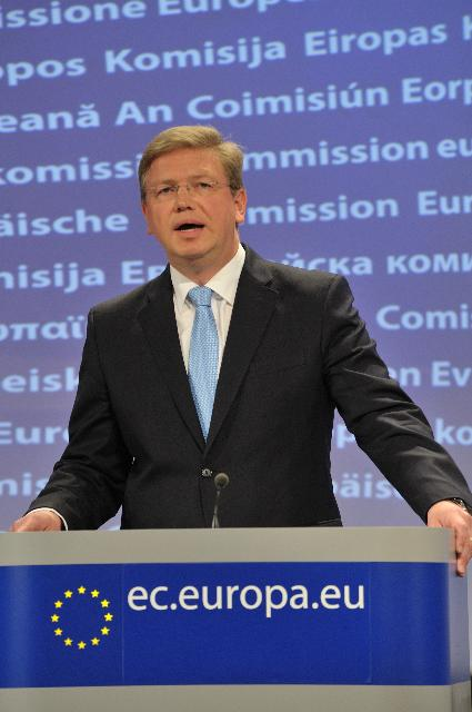 Press conference by Štefan Füle, Member of the EC, on the negotiations on Croatia's accession to the EU