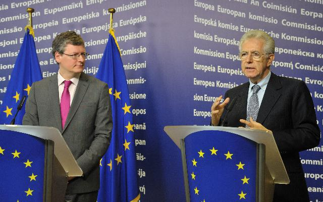 Joint press conference by László Andor, Member of the EC, and Mario Monti, author of the report