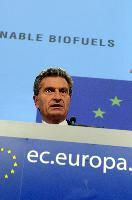 Press conference by Günther Oettinger, Member of the EC, on the first EU sustainability schemes for biofuels