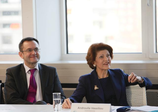 Visit of Androulla Vassiliou, Member of the EC, to Germany
