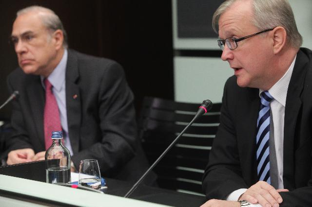 Joint press conference by Angel Gurría, Secretary General of the OECD, and Olli Rehn, Vice-President of the EC, on the OECD economic surveys on the euro area and the EU