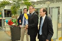 "Opening of the exhibition ""Field of Turning Solar Sunflowers"", with the participation of Andris Piebalgs, Member of the EC"