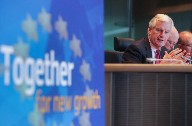 Participation of José Manuel Barroso, President of the EC, Michel Barnier and John Dalli, Members of the EC, in the launch of the Single Market Week 2012