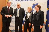 """Visit of the representatives of the Belarusian Human Rights Centre """"Viasna"""" to the EC"""