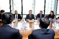 Visite de Le Luong Minh, ministre adjoint vietnamien des Affaires étrangères, et prochain secrétaire général de l'ASEAN, à la CE