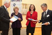Participation of Viviane Reding, Vice-President of the EC, and Cecilia Malmström, Member of the EC, in the launch of the EDPS' strategy for 2013-2014