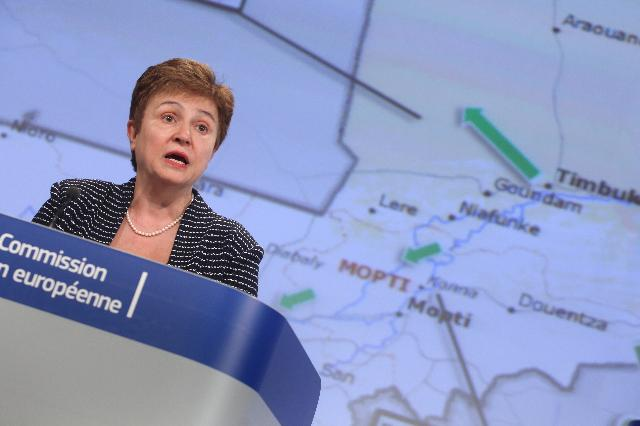 Press conference by Kristalina Georgieva, Member of the EC, on the humanitarian situation in Mali