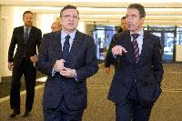 Meeting between Anders Fogh Rasmussen, Secretary General of NATO, and José Manuel Barroso, President of the EC