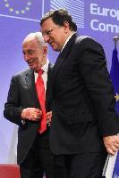 Visite de Shimon Peres, président d'Israël, à la CE