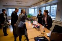 Visite du Jongerenloket de Rotterdam par László Andor, membre de la CE