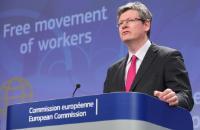 Conférence de presse de László Andor, membre de la CE, sur l'adoption d'une directive visant à faciliter la libre circulation des travailleurs dans l'UE