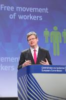 Press conference by László Andor, Member of the EC, on the adoption of a directive to improve application of workers' rights to free movement in the EU