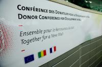 The poster of the Donor Conference for development in Mali entitled