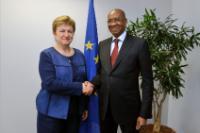 Visite de Cheikh Hadjibou Soumaré, président de l'UEMOA, à la CE