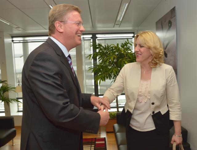 Visit of Željka Cvijanović, Prime Minister of the Republic of Srpska, to the EC