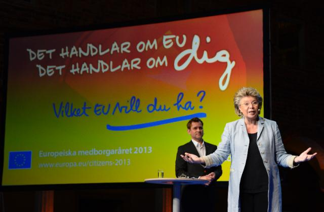 Citizens' Dialogue in Stockholm with Viviane Reding