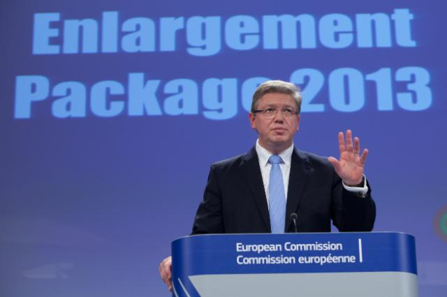Press conference by Štefan Füle, Member of the EC, on the adoption of the 2013 Enlargement package and its communication and follow-up reports